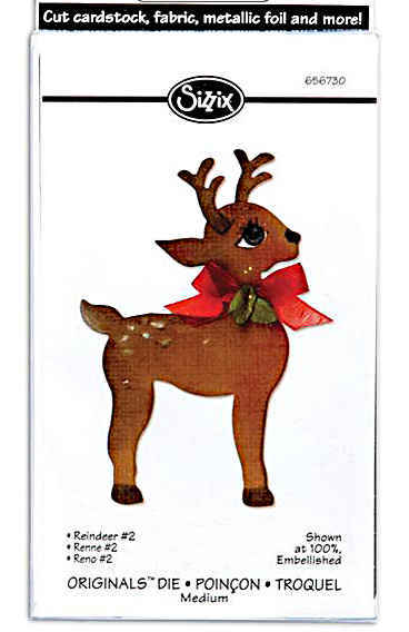 Originals Die - Reindeer #2, by Rachael Bright - Sizzix