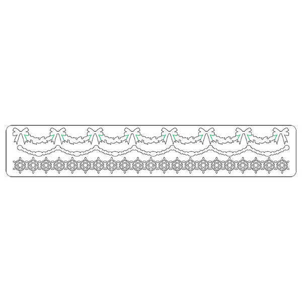 Sizzlits Decorative Strip Die - Alterations Holly Beaded & Snowflake Garland - Tim Holtz - Sizzix-2