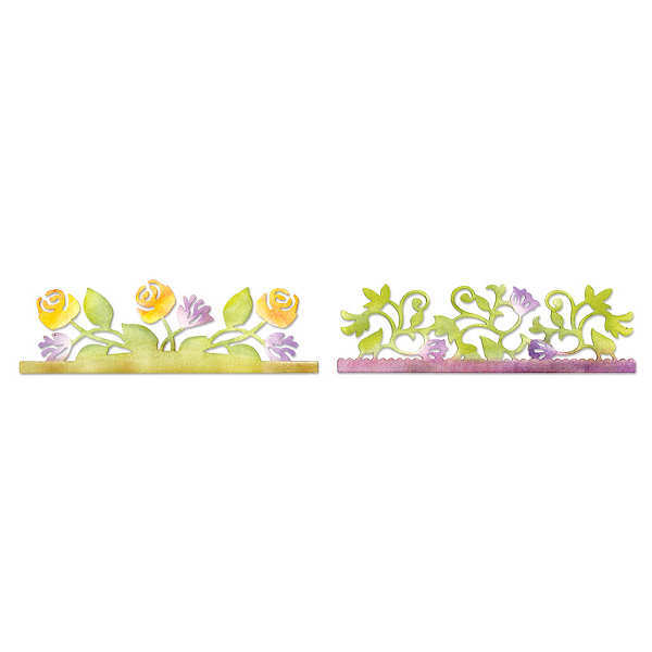 Sizzlits Decorative Strip Die - Botanical & Rose Garden - Sizzix