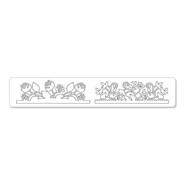 Sizzlits Decorative Strip Die - Botanical & Rose Garden - Sizzix-1