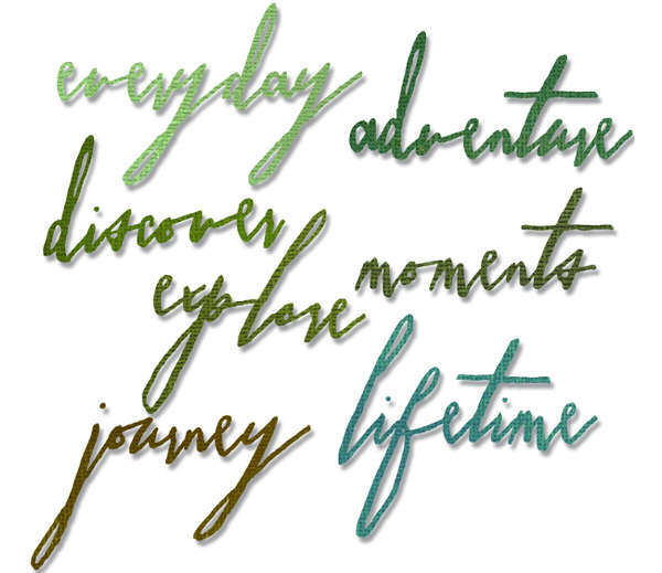 Thinlits Die - Alterations Handwritten Journey 7pk - Tim Holtz - Sizzix