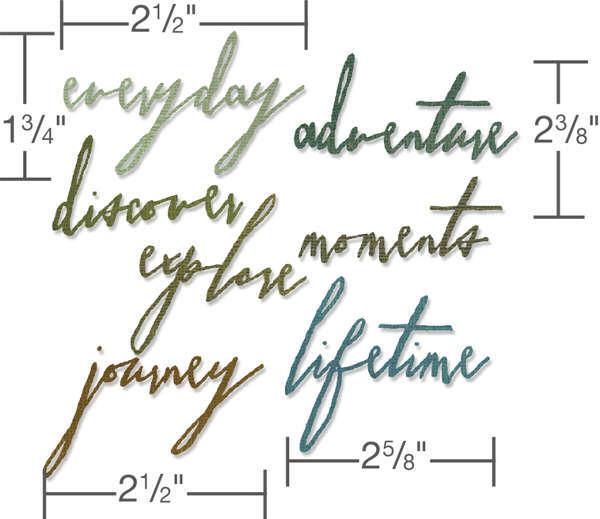 Thinlits Die - Alterations Handwritten Journey 7pk - Tim Holtz - Sizzix-1
