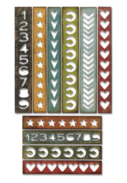 Thinlits Die - Alterations 10pc Shape Strips - Tim Holtz - Sizzix