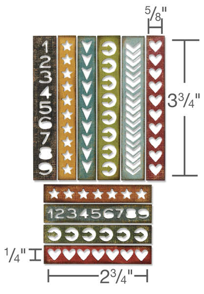 Thinlits Die - Alterations 10pc Shape Strips - Tim Holtz - Sizzix-1