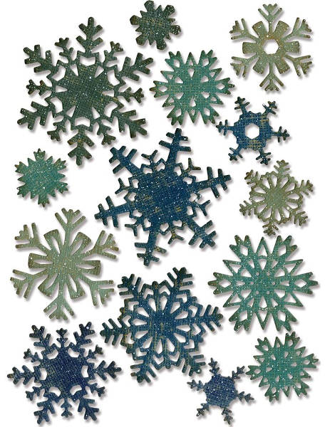 Thinlits Die - Alterations Mini Paper Snowflakes 14pc - Tim Holtz - Sizzix
