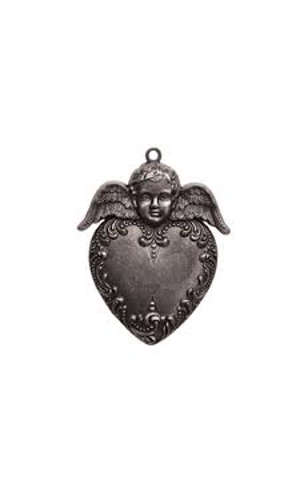 A Gilded Life - Pendant - Heart Angel - Silver - Spellbinders