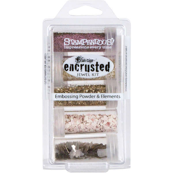 Embossing Powder - Elements - Pink Encrusted Jewel Kit - Stampendous
