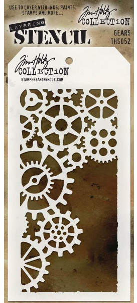 Layering Stencils - Gears by Tim Holtz - Stampers Anonymous