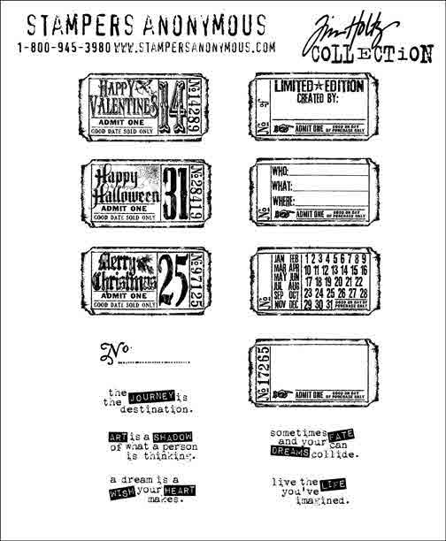 Cling Mount Stamps - Odds and Ends by Tim Holtz - Stampers Anonymous