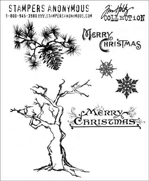 Cling Mount Stamps - Winter Sketchbook by Tim Holtz - Stampers Anonymous