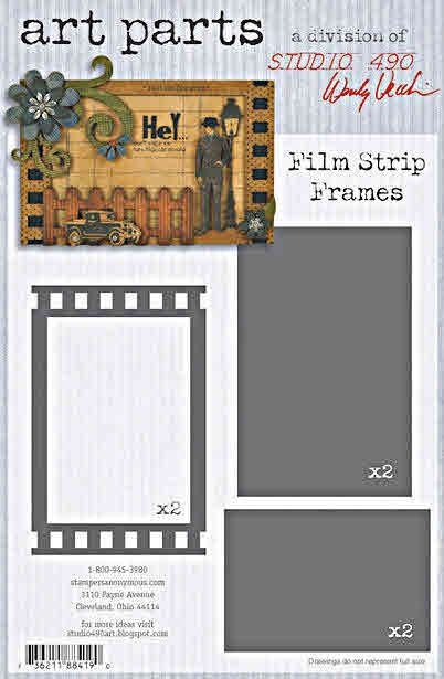 Wendy Vecchi Art Parts - Film Strip Frames - Stampers Anonymous