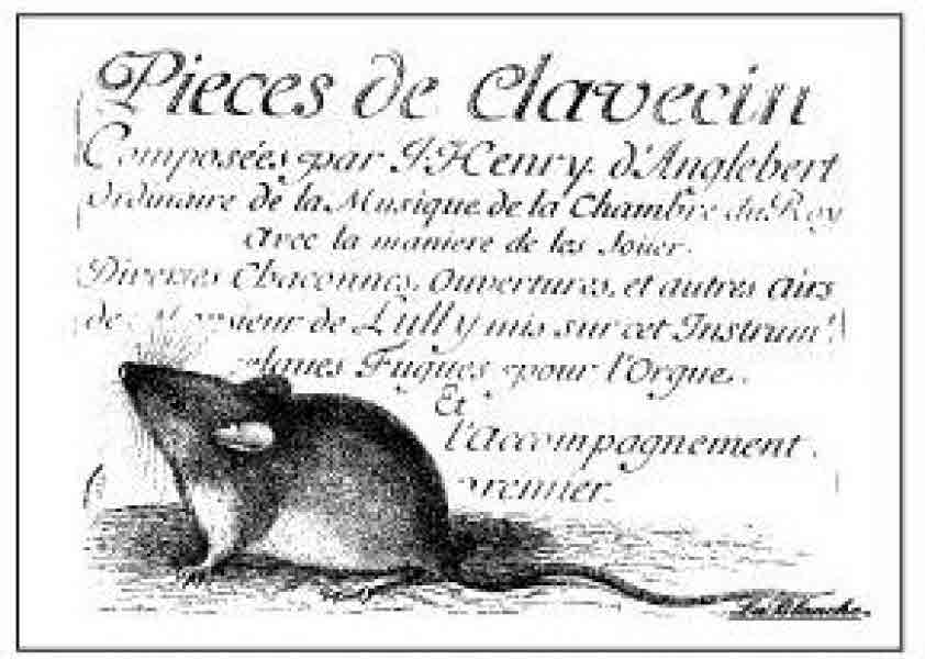 Stamp Little Mouse Reading Lablanche