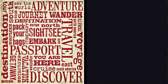 World Traveler  Words 12 x 12 Double-sided Paper - Teresa Collins