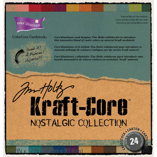 Kraft Core - Nostalgic - 12x12 Assorted Pack - Tim Holtz - Core'dinations