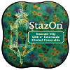 StazOn Midi Solvent Ink Pad - Emerald City - Tsukineko
