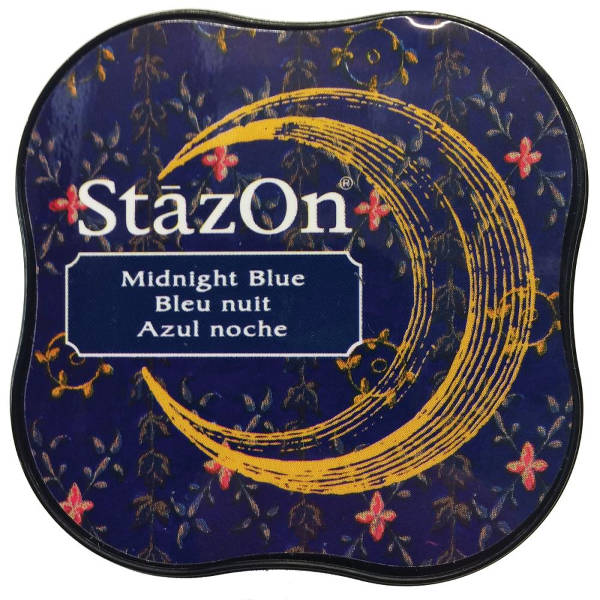 StazOn Midi Solvent Ink Pad - Midnight Blue - Tsukineko