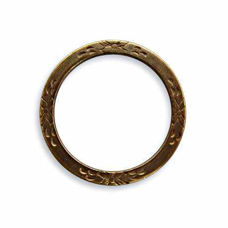 25mm Eternity Garden Ring - Vintaj Natural Brass