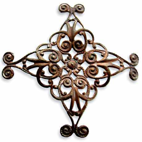 Diamond Swirl Filigree - Vintaj Natural Brass