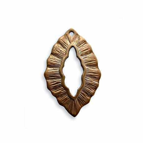 30x6mm Small Leaf - Vintaj Natural Brass
