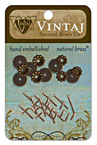 Decorative Washers - Vintaj Natural Brass