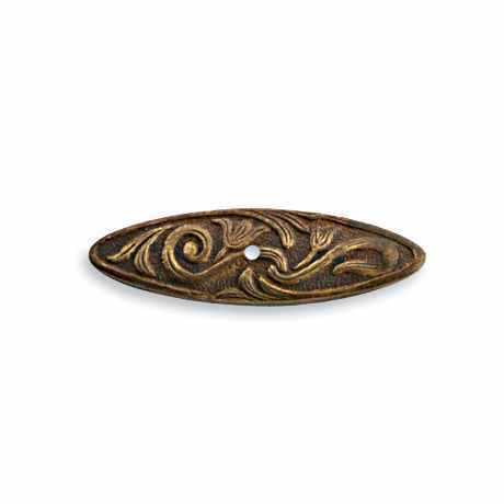 26x8mm Nouveau Swirls Creative Bar - Vintaj Natural Brass