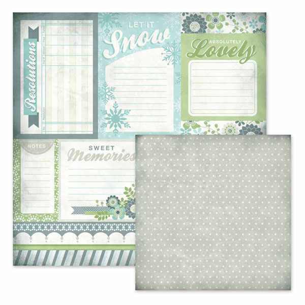 Winter Frost -  Cards 12x12 Double-sided Paper - We R Memory Keepers