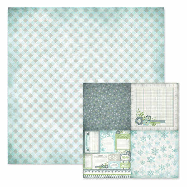 Winter Frost -  Toboggan 12x12 Double-sided Paper - We R Memory Keepers