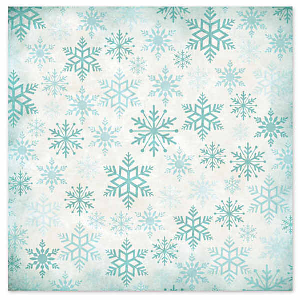 Winter Frost -   Glitter Accents Snowflakes 12x12 Paper - We R Memory Keepers