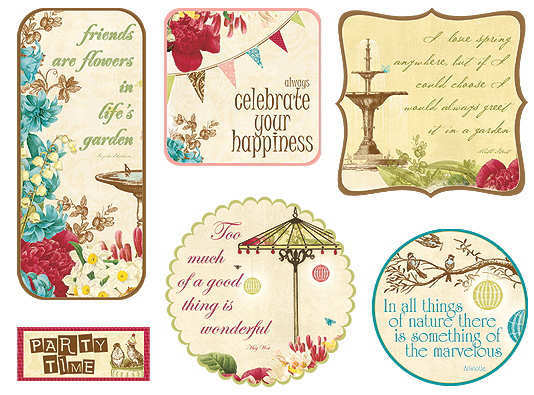 Fabric Fancies - Garden Gala - Webster's Pages