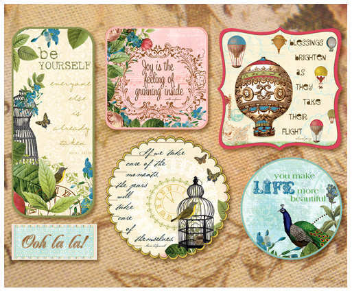 Fabric Fancies - Postcards From Paris - Webster's Pages