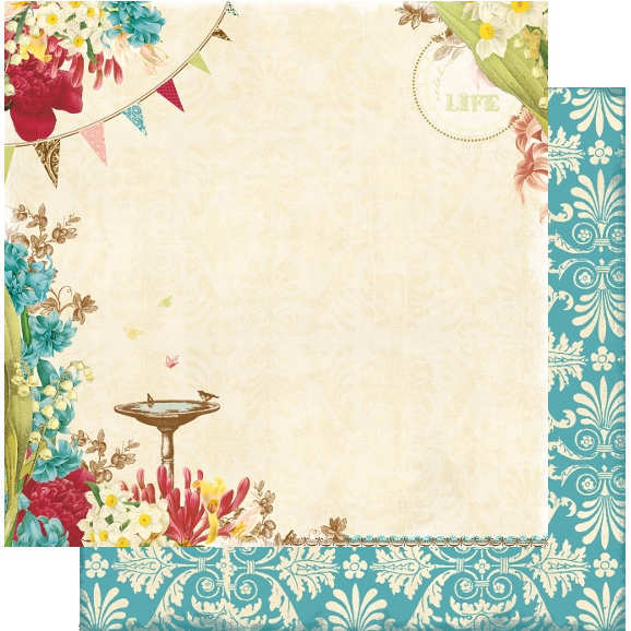 Garden Gala -   Celebrate Life - 12x12 Double-sided Paper - Webster's Pages