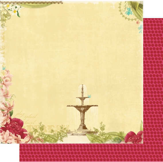 Garden Gala -   Refreshing - 12x12 Double-sided Paper - Webster's Pages